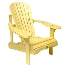 Fauteuil en pin style Adirondack prêt à assembler de The Bear Chair