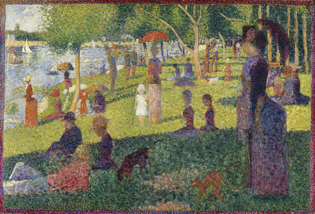 "Georges Seurat (French, 1859–1891). Study for ""A Sunday on La Grande Jatte,"" 1884. The Metropolitan Museum of Art, New York. Bequest of Sam A. Lewisohn, 1951 (51.112.6) 