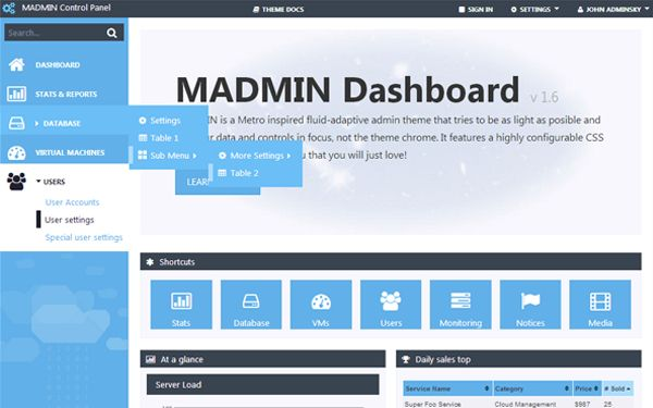 Check out MADMIN. Admin Theme  @bootstrapstage