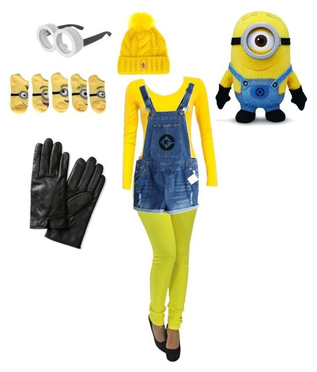"""Minion halloween costume! How to: in description"" by vsbaker ❤ liked on Polyvore featuring Moncler Grenoble, Banana Republic, women's clothing, women, female, woman, misses and juniors"