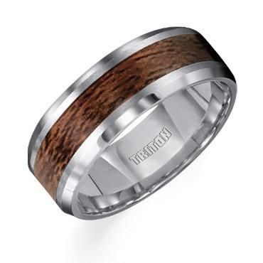 TRITON Tungsten Carbide and Wood Band - Item 11-2799C-G | REEDS Jewelers