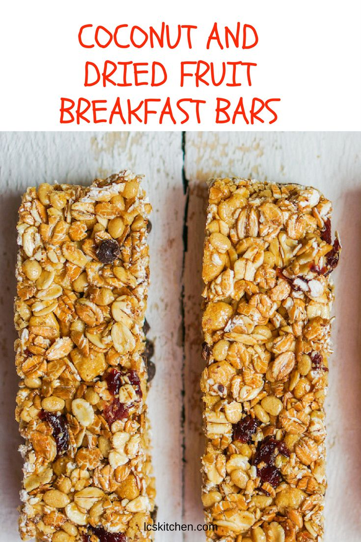 COCONUT AND DRIED FRUIT BREAKFAST BARS #recipe #healthyrecipes #breakfast