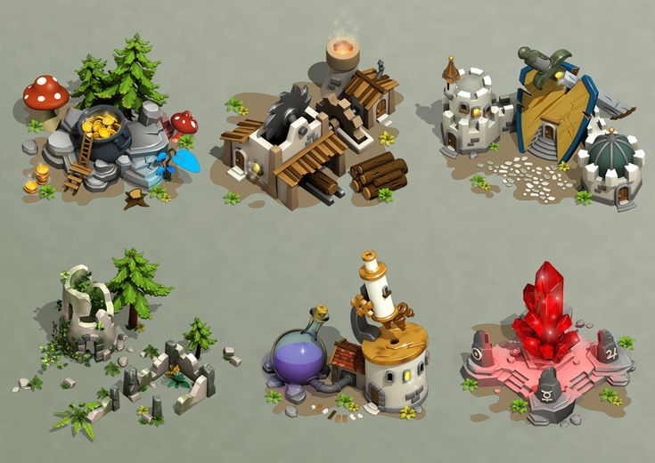 Zbrushy game buildings