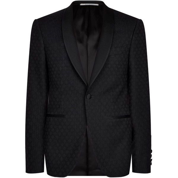 Canali Diamond Jacquard Evening Jacket ($1,395) ❤ liked on Polyvore featuring men's fashion, men's clothing, men's outerwear, men's jackets and canali mens jackets