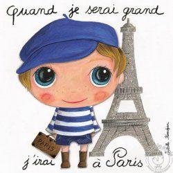 Tableau Paris garçon - Quand je serai grand