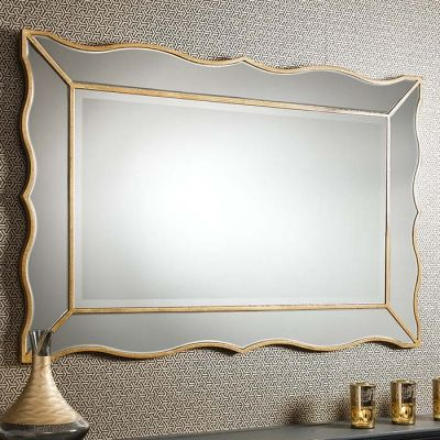 Cassius gold wall mirror! A perfect overmantle mirror if you're after something more contemporary. £233.28 Shop > http://www.exclusivemirrors.co.uk/gold-mirrors/cassius-gold-wall-mirror-107-x-71cm