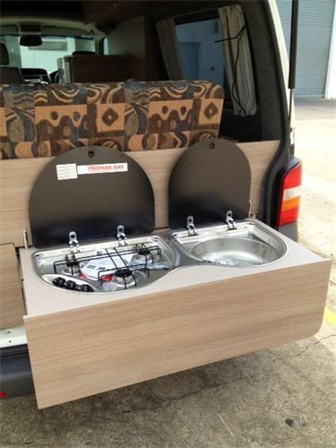 Pull Out Kitchen With 3 Burner Stove Amp Sink Camping We