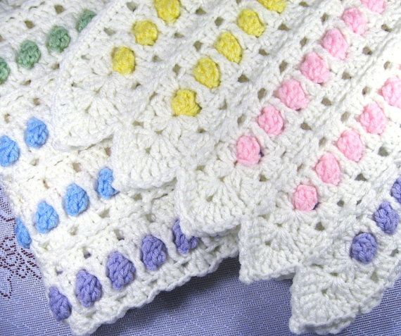 PDF Pattern Crocheted Baby Afghan CANDY by thejewellshandmades, $3.00