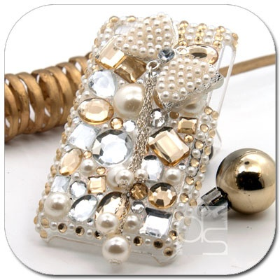 3D Bling Gold Crystal Hard Skin Back Case Cover For Apple iPhone 3 G 3G S 3GS