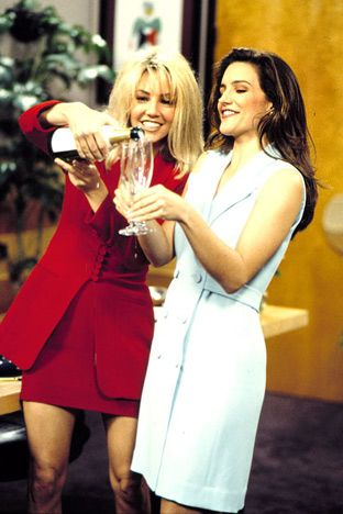 '90s TV Stars: Then & Now: Heather Locklear and Kristin Davis: Then (Us weekly)