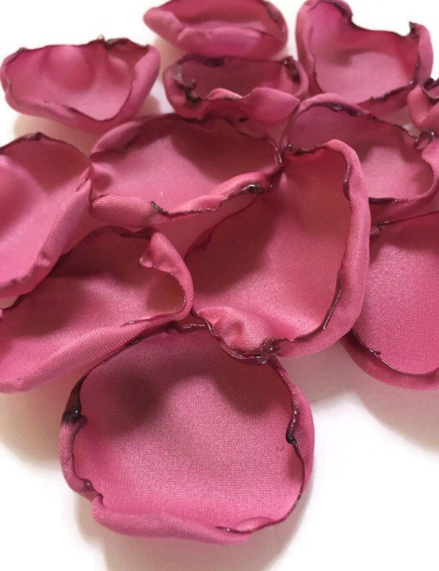 Dusty mauve rose pink flower petals, rose petals, dusty pink table decor, flower girl petals, wedding, baby shower decor