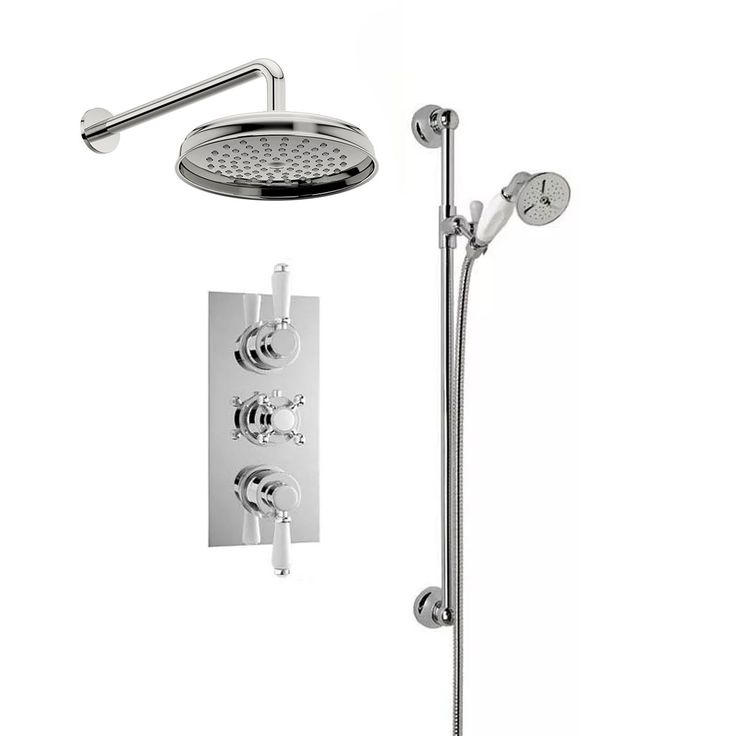 Traditional Thermostatic Triple Valve Complete Shower Set £239