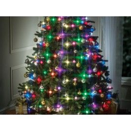 From BulbHead the maker of Star Shower, light up your Christmas tree with a spectacular array of patterns and colors. Simply slip the Tree Dazzler LED lights over the top of your tree and arrange the vertical light strands for instant holiday decorating.
