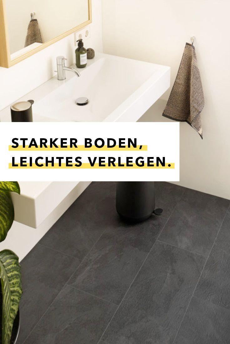 Bei Diesem Badezimmerboden Macht Es Klick Badezimmerboden Boden Verlegen Boden