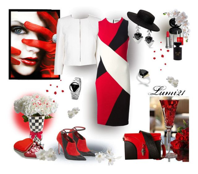 Untitled #1844 by lumi-21 on Polyvore featuring FAUSTO PUGLISI, L.K.Bennett, René Caovilla, Proenza Schouler, White House Black Market, VIVETTA, GAB, Lancôme, Forever 21 and Nails Inc.