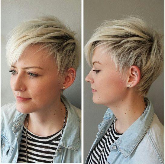 Short Shaggy Haircut für Blond Haar