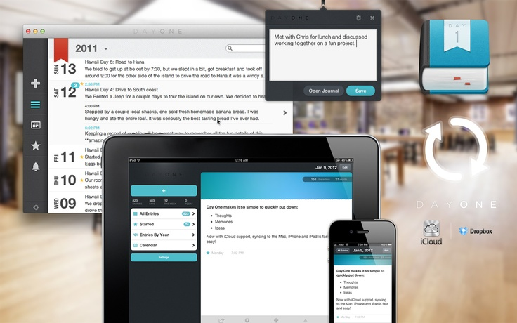 Day One.  Very nicely implemented diary app for iOS and OS X