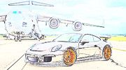 """New artwork for sale! - """" Porsche 991 Gt3  by PixBreak Art """" - http://ift.tt/2lrWP6z"""