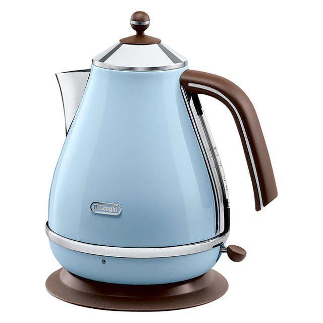 BuyDe'Longhi KBOV3001AZ Vintage Icona Kettle, Azure Blue Online at johnlewis.com