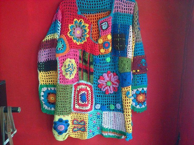 Tejidos al crochet de diferentes colores