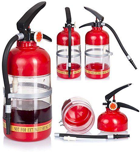 Getränkebehälter im Feuerlöscher-Design  - Antreten zum Durstlöschen - Geschenkideen für Männer - (*Partner-Link)