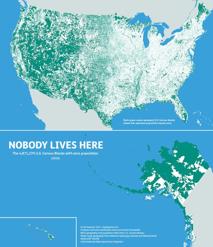 769 best posters and charts images on pinterest knowledge world nobody lives here the 4871270 us census block with zero population north americaunited gumiabroncs Image collections
