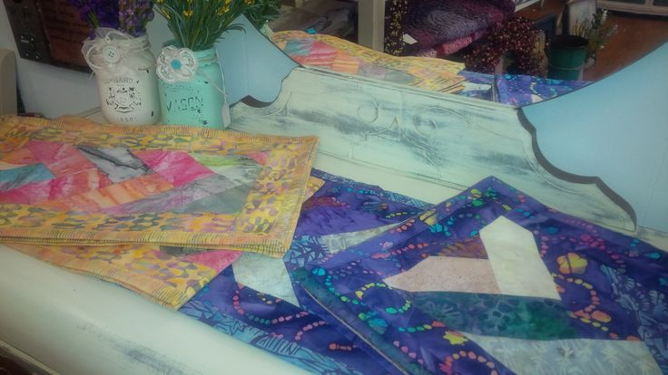 Hand Sewn Placemats & Table Runners ~ Great Colours ~Made in Perth, Ontario <3  Available at Mariposa Design 73 Foster Street, Perth, ON K7H 1R9