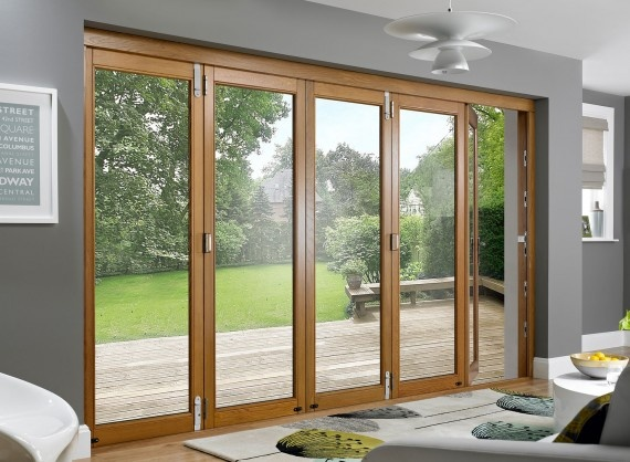Prestige 12ft Solid Oak Folding Sliding Doors Vufold