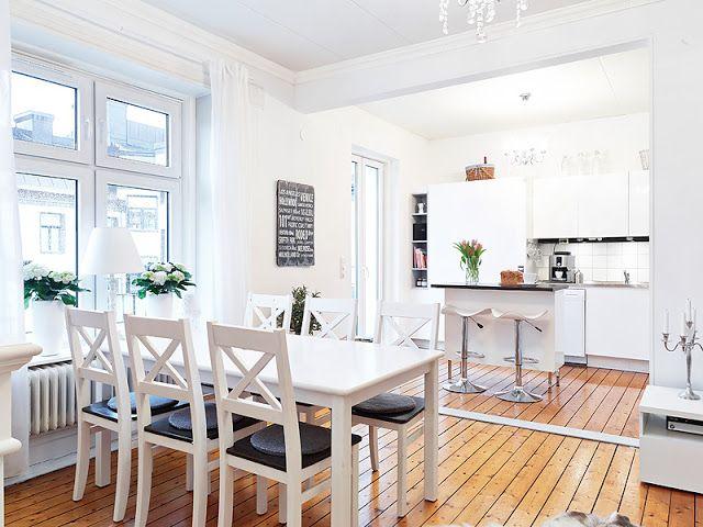 Decoracion facil apartamento nordico con cocina abierta - Decoracion cocina pequena apartamento ...