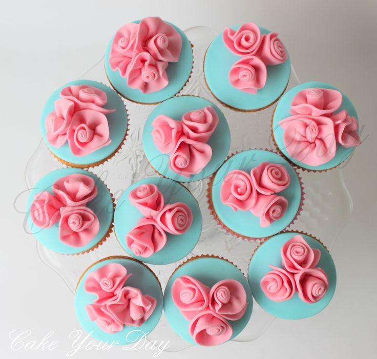 Rozen cupcakes
