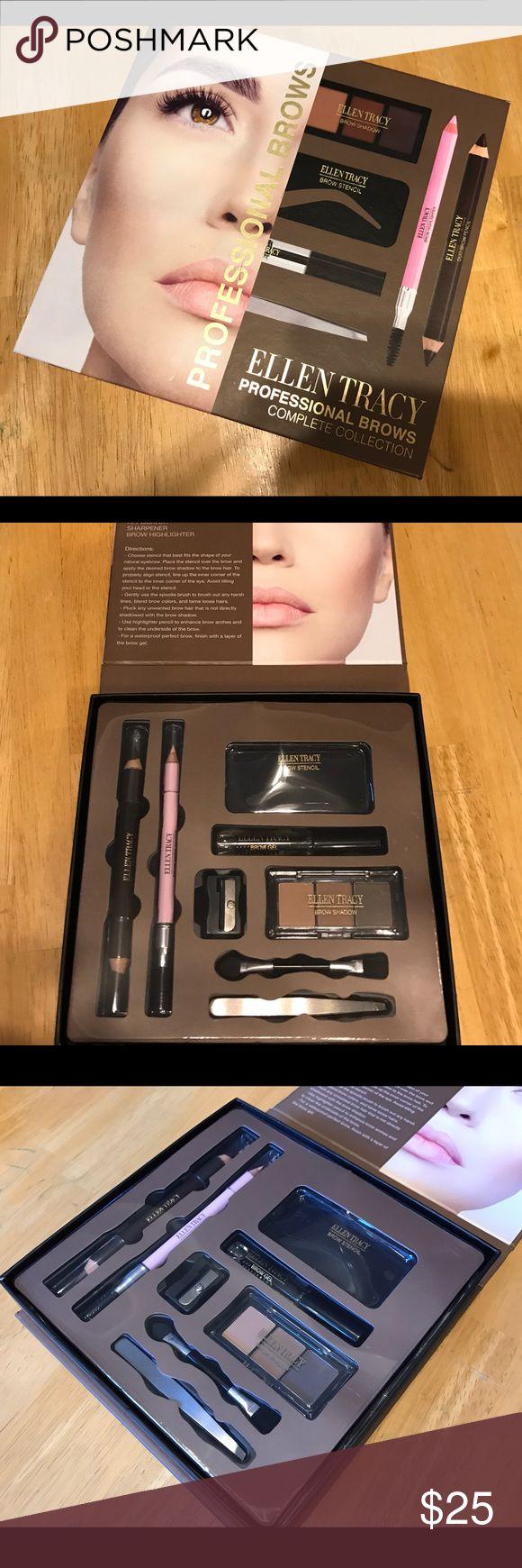 ♨️JUST IN- Professional Brow Complete Collection Set includes: ▪️Brow Gel ▪️Brow Shadow ▪️Brow Highlighter ▪️Duo Brow Pencil ▪️Tweezer ▪️ Brow Stencil ▪️Sharpener ▪️Applicator. Ellen Tracy Makeup Eyebrow Filler