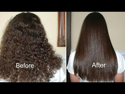 Permanent Hair Straightening at home- natural ingredients...not sure about permanent or straightening. But it's an easy to make, rich hair mask