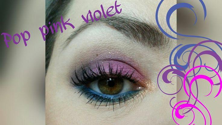 """Tuto Make Up coloré """"pop pink violet"""""""