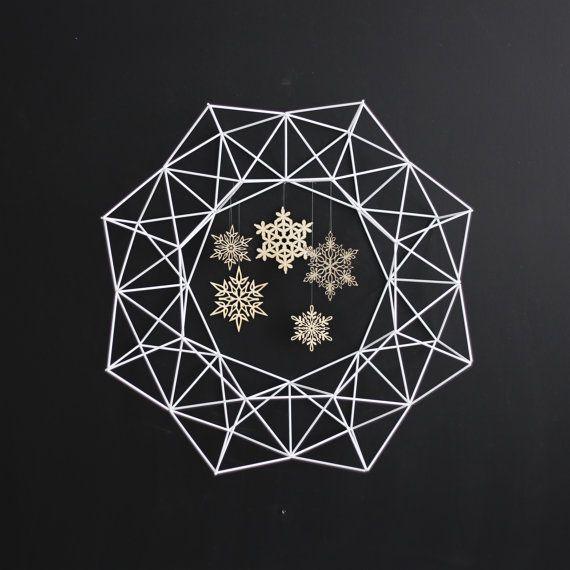 HRUSKAA Modern Geometric Wreath No.1 Geo Himmeli by HRUSKAA