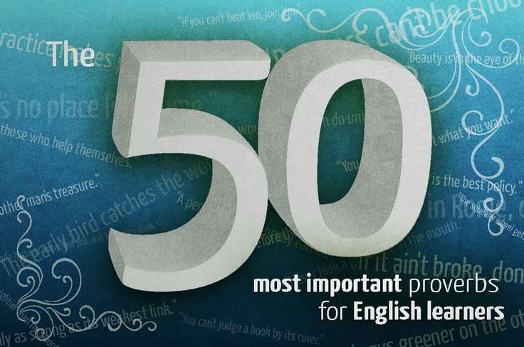 The 50 most important English proverbs