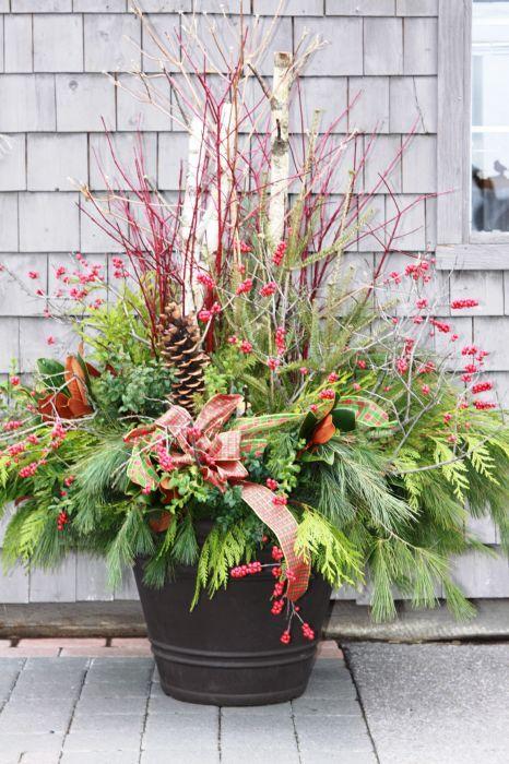 Decoration exterieur hiver recherche google d coration Composition florale exterieur hiver