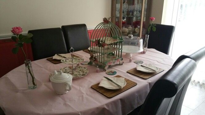 Vintage birthday tea party
