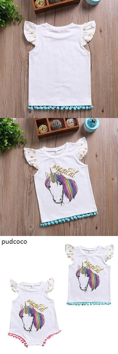 Tassel Magical Cartoon Little Sister Baby Girl Ruffle Rompers Big Sister Sleeveless Vest T-shirt Tops Matching Outfits Summer
