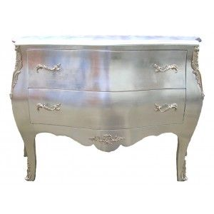 Good commode baroque de style louis xv argente avec - Maison du monde commode baroque ...