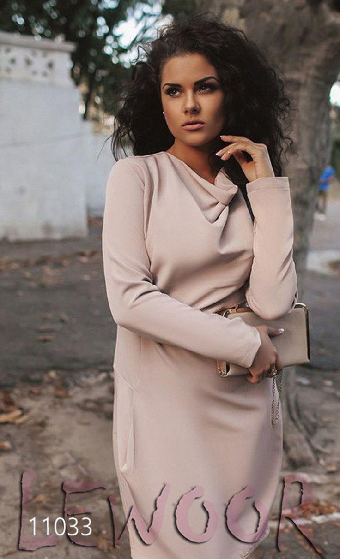 Нарядное платье для полных с длинным рукавом (XL+) - купить оптом и в розницу, интернет-магазин женской одежды lewoor.com