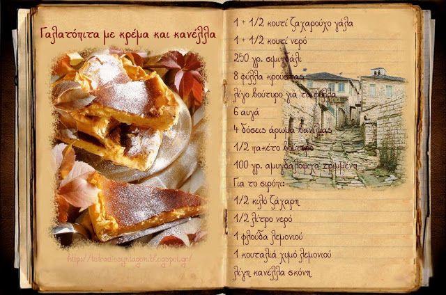 Συνταγές, αναμνήσεις, στιγμές... από το παλιό τετράδιο...: Γαλατόπιτες