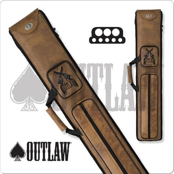 Outlaw Pool Cue Case - OLH35 - 3x5 Hard Cue Case Guns Design - absolute cues