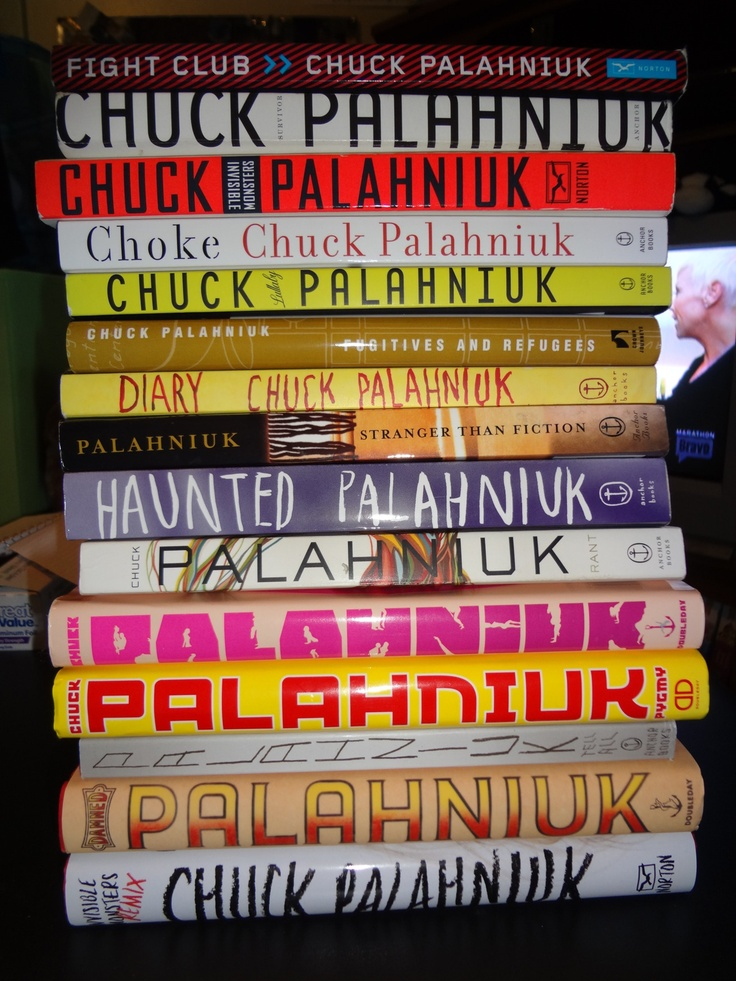 best all things chuck palahniuk images book stack of chuck palahniuk books hell yeah i want clllllll