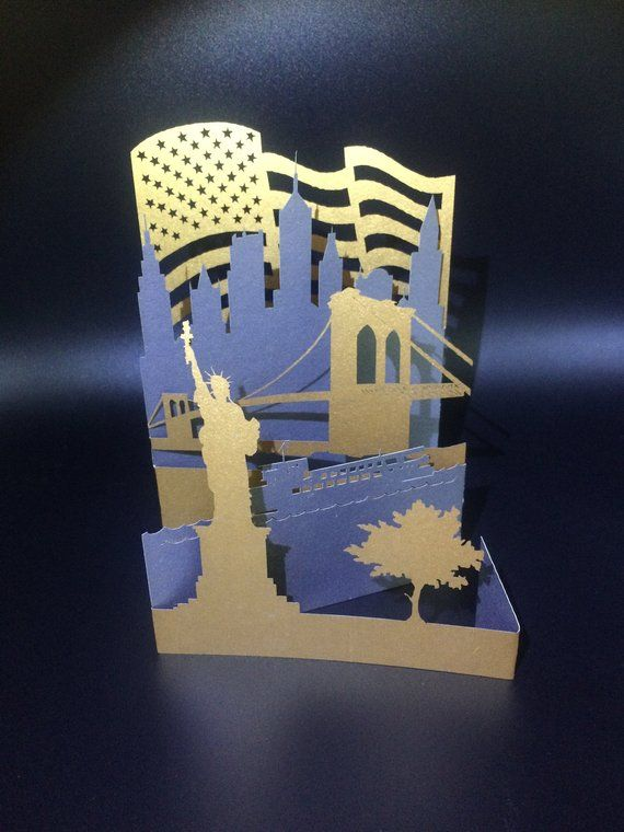 New York Gift New York Skyline Greeting Card Nyc Wedding Etsy Pop Up Cards Liberty Gifts Greeting Cards