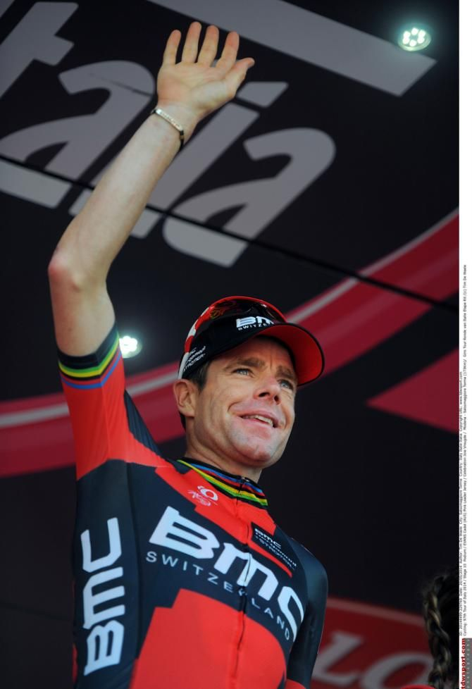 Giro d'Italia 2014 - Stage 10 - Cadel Evans (BMC) up on the podium