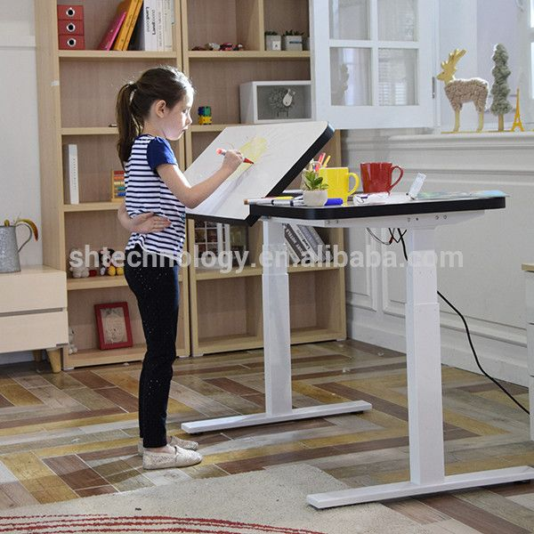Electric Height Adjustable Child S Drawing Table Find Complete