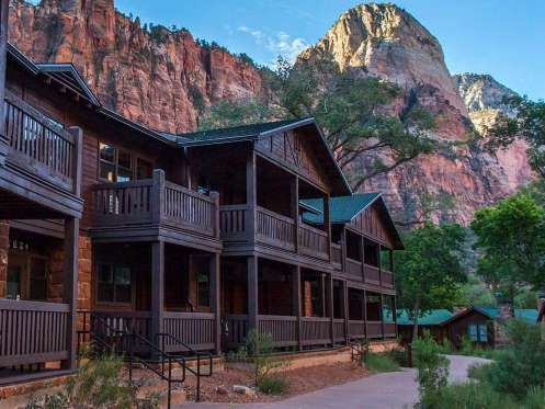 People have slept beneath the shadow of the towering sandstone cliffs in Zion National Park for 8,00... - Courtesy Zion Lodge