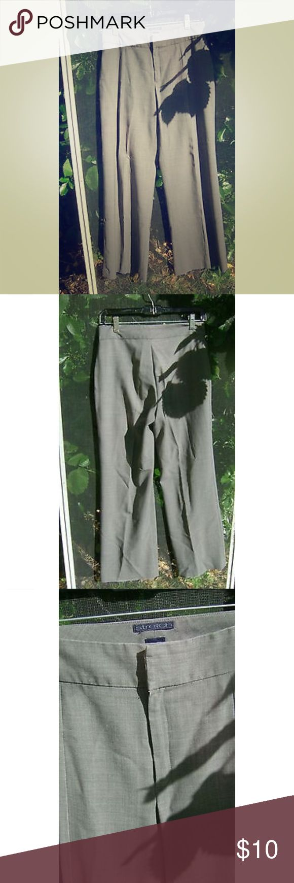 Womens Gray GAP Trouser Stretch pants 2 vintagey pair of quality. small spot & slight fading at the very bottom (pictured) but otherwise wonderful condition! They're stretchy and comfy. GAP Pants Trousers