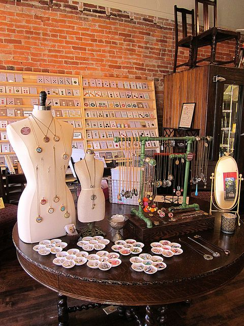 Dress Forms make a wonderful canvas to display jewelry - and we sell new and used dress forms at Mannequin Madness