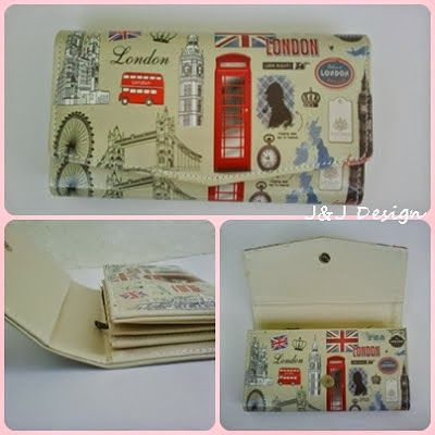 Nama  Produk : Dompet wanita I Love London Harga : 50rb Ukuran   : 20cmx35cm Bahan : Kulit Sintetis Bentuk Dompet : Lipat 3 ,1 slotfoto, 3 slotcard